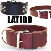 Leather Brothers Latigo Dog Collars
