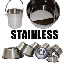 Leather Brothers Stainless Steel Dog Bowls